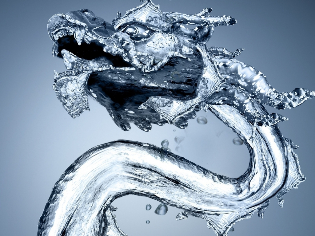 Water Dragon for 1024 x 768 resolution