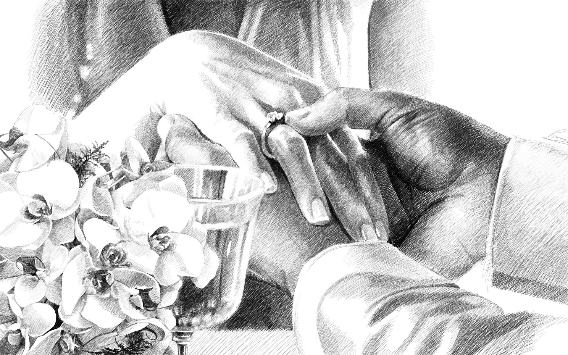 картинки свадебные карандашом духовных