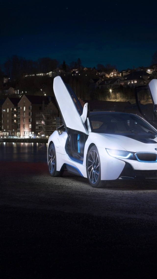 White Bmw I8 Concept 640 X 1136 Iphone 5 Wallpaper