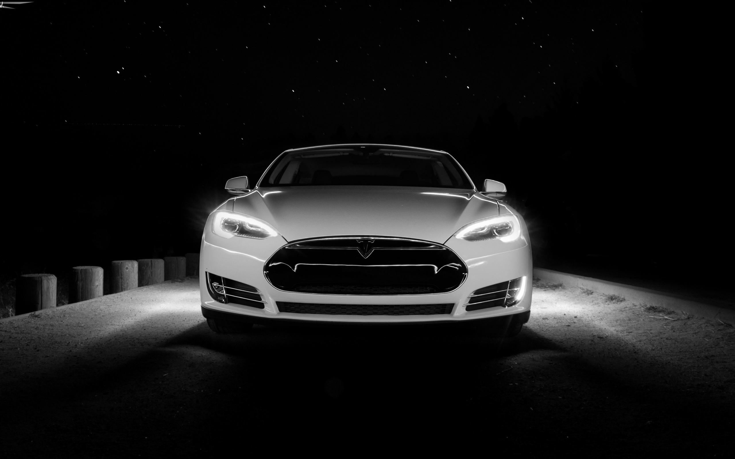 White Tesla Front  for 2560 x 1600 widescreen resolution