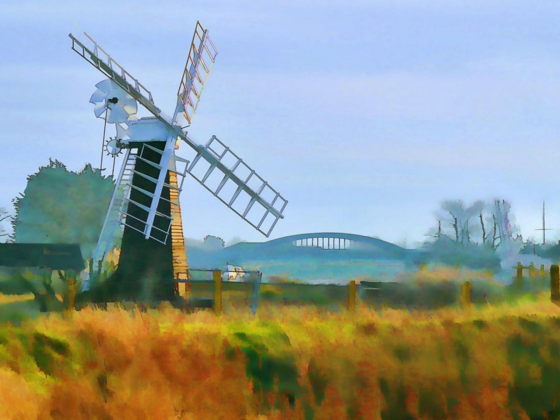 Windmill Painting for 1152 x 864 resolution