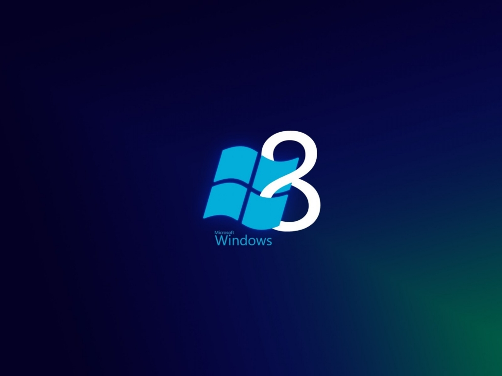 Windows 8 Blue Style for 1024 x 768 resolution