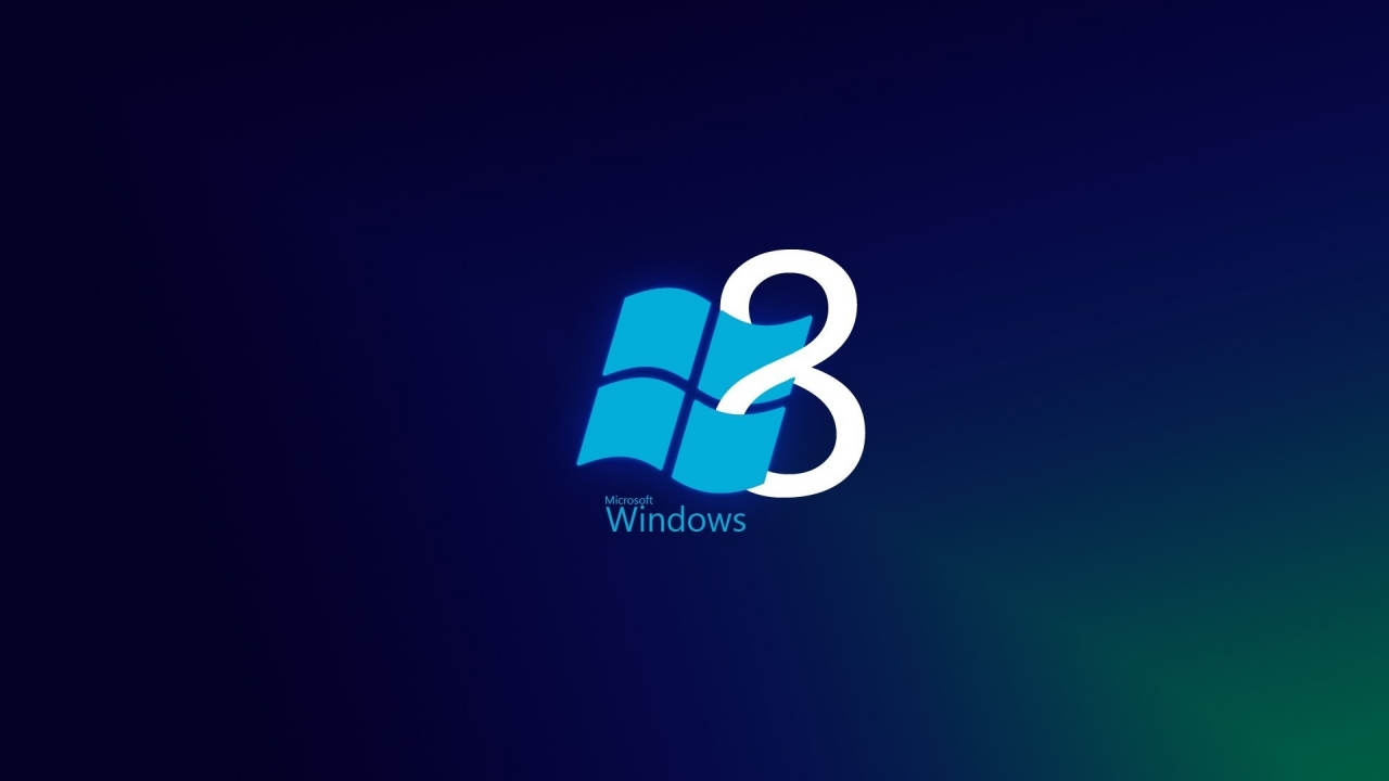 Windows 8 Blue Style for 1280 x 720 HDTV 720p resolution