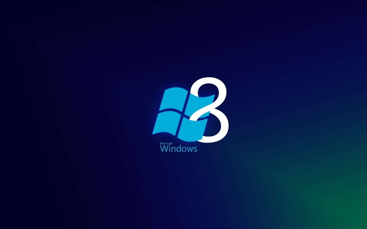 Windows 8 Blue Style for 1280 x 800 widescreen resolution