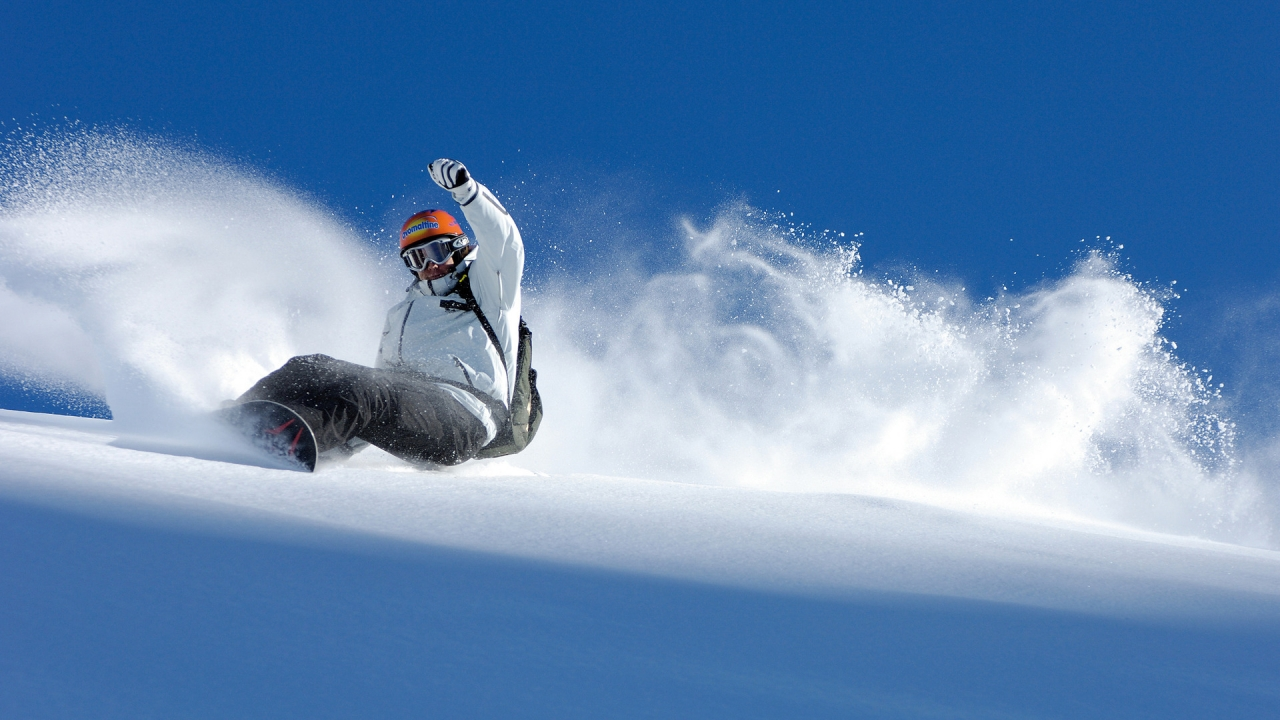 Winter Snowboarding Sport for 1280 x 720 HDTV 720p resolution