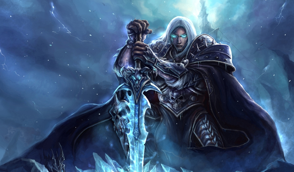 World of Warcraft Lich King Art for 1024 x 600 widescreen resolution
