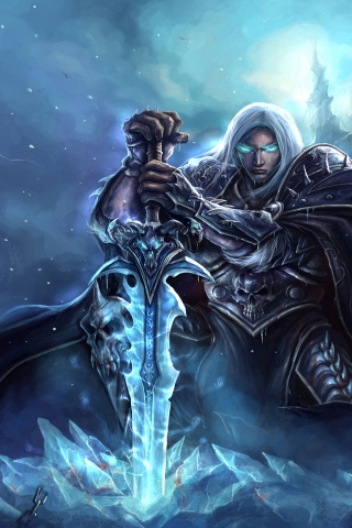 World of Warcraft Lich King Art for 320 x 480 iPhone resolution