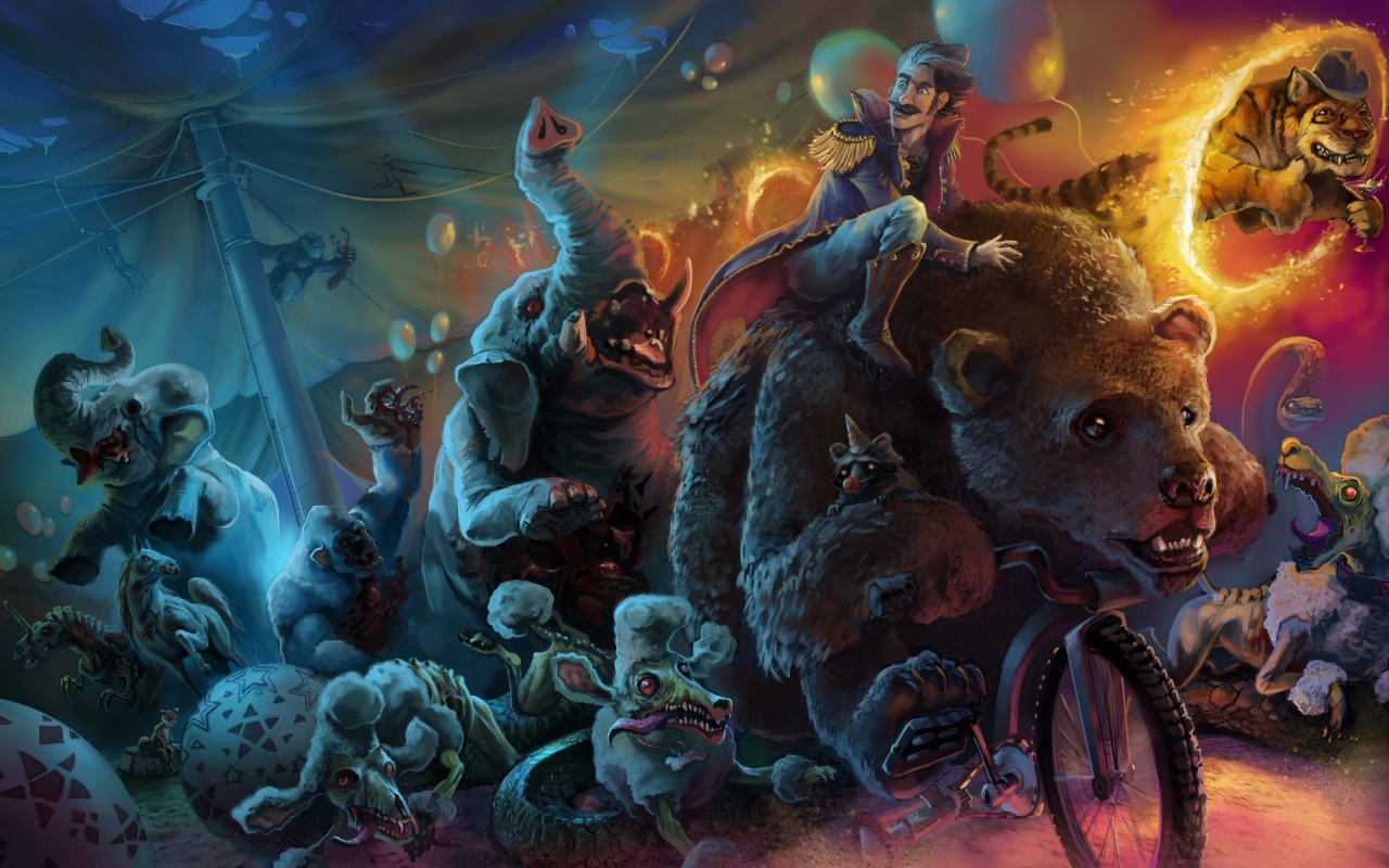 Zombies Circus for 1280 x 800 widescreen resolution